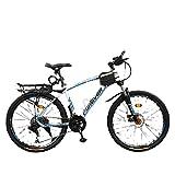 Bicicleta, Niños Y Niñas, Fuerte Veloz Rápido, Vehículo Todoterreno De La Montaña-Radios_26 Pulgadas 21 Velocidad,Bicicleta Eléctrica para Hombres De Mujeres