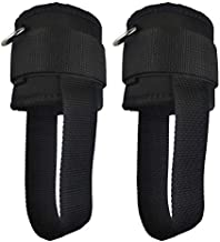 YCYU Ankle Cuffs for Cable Machine with Feet Straps Workout Attachment Replacement Bands for Glute Kickback Leg Hip Exercise for Men & Women Black 2 Pack