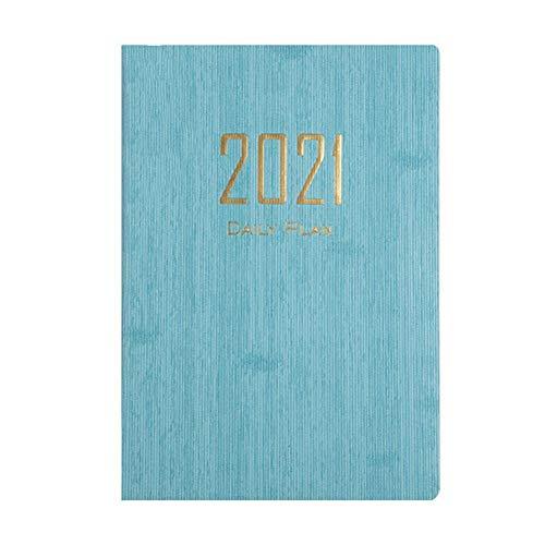 2021 Calendar Notebook A5 Planificador semanal de 18 meses Planificador académico diario Bloc de notas con índice mensual para Office Student School