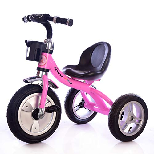 Little Bambino Nuevo rosa 3 Wheeler Trike Niños Niños Trike Triciclo Ride-On Bike 3-6 Años Lleno de Aire Ruedas Portabidón Trike 2020 (rosa)