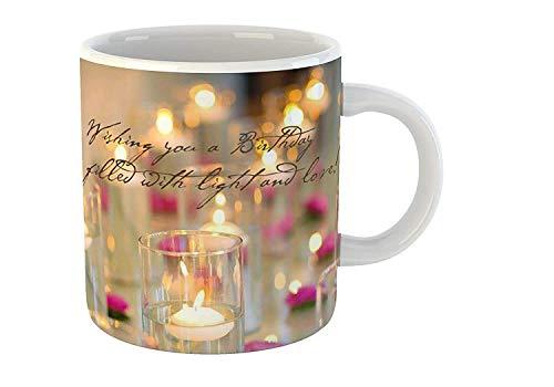Tonkwalas Printed Ceramic Mug Best Birthday Gift for Girlfriend,Boyfriend,Husband,Wife (325 ML, White)