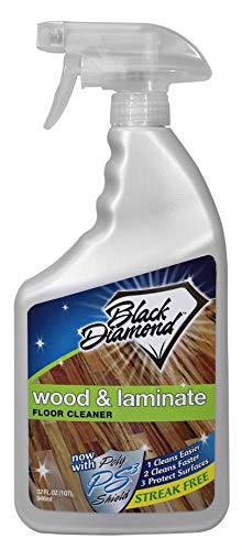 Product Image of the Black Diamond Stoneworks Wood & Laminate Floor Cleaner: For Hardwood, Real, Natural & Engineered Flooring –Biodegradable Safe for Cleaning All Floors