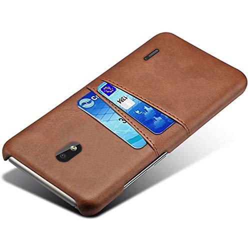 HualuBro Handyhülle für Nokia 2.2 Hülle, Premium PU Leder Ultra Slim Tasche Cover Stoßfest Bumper Hülle Schutzhülle Lederhülle Backcover Hüllen für Nokia 2.2 2019 (Braun)