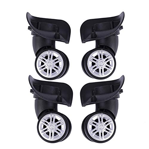 Lezed Suitcase Wheels Spare Wheels Luggage Replacement Swivel Wheels Universal Durable Rubber Mute Casters Fittings Silent Wear Pulley for Travel Case 4 PCS