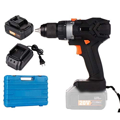 UWY Combi Drill Cordless Drill Driver 20V 2-Speed ??Combi Drill 2 Batteries 1500mAh Max Torque 30Nm Cordless Rechargeable Home Improvement