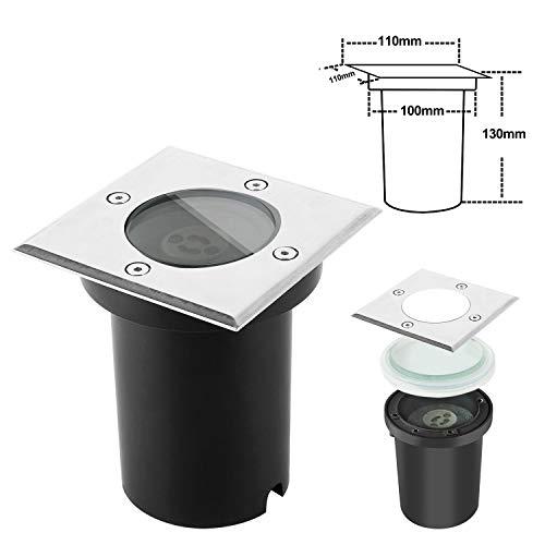 Foco Empotrable de Suelo LED BAODE Foco GU10 (Cuadrado Sin Bombillas, 1 x Paquete)