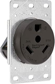 Legrand - Pass & Seymour 3830CC6 Industrial-Strength Flush-Mount Power Outlet for RVs, Dryers & Ranges | Travel Trailer Outlet 30A, 125 Volt, 2-Pole, 3-Wire