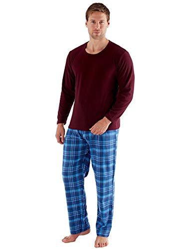 Harvey James - Pijama de forro polar para hombre, color
