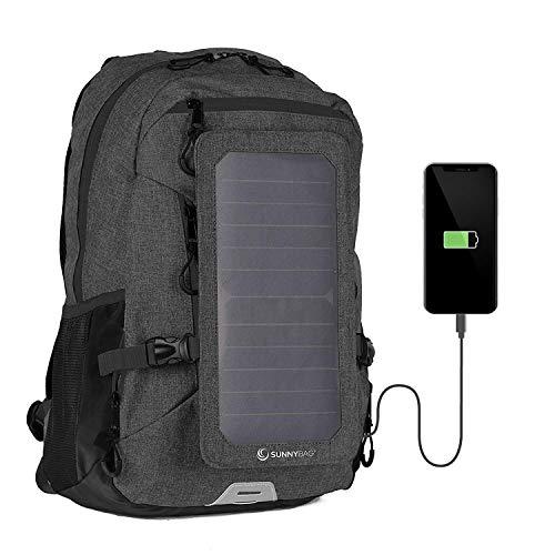 SunnyBAG Mochila Solar Explorer+ | con Panel Solar de 6W para Cargar el teléfono móvil |Mochila 15L para Universidad, Trabajo, Ocio | Compartimento para portátil de 15