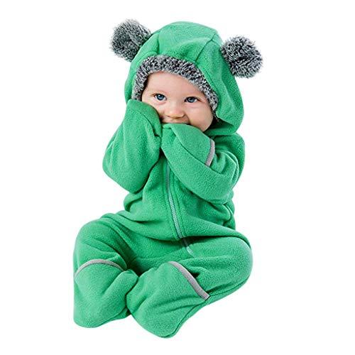Traje de Nieve Bebé Ropa de Invierno Peleles Cálido Fleece Mameluco con Capucha Monos Manga Larga para Niños Niñas
