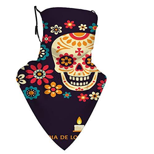 Dia De Los Muertos Tag Das Tote Poster mit Smilin Neck Gamasche Gesicht Schal Kopfbedeckung-Staub, Sonnenschutz Cool Lightweight Windproof, Breathab