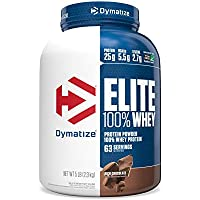 Dymatize Elite 100% Whey Protein Powder, Rich Chocolate, 5 Pound