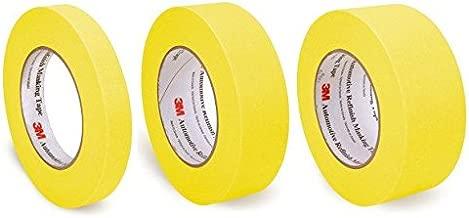 Pack of 3M Automotive Refinish Yellow Masking Tape, 3/4