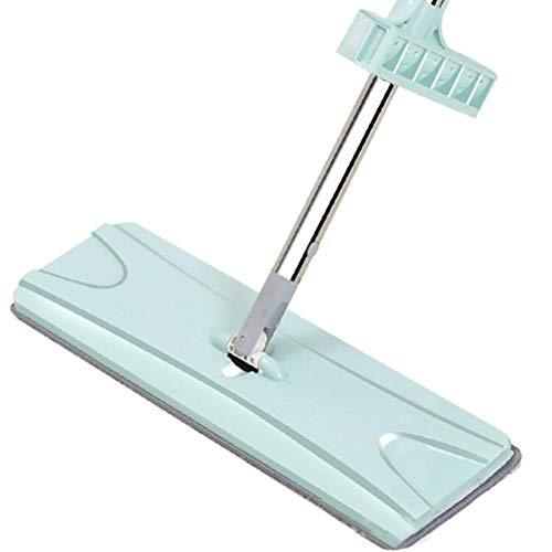 Trapeador en aerosol Trapeador de piso para lavar a mano, con trapeador plano perezoso giratorio, limpieza de alfombras de microfibra, trapeador doméstico de cocina, trapeador mágico giratorio 360