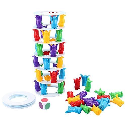 Schaken Dammen en Backgammon Kinderspeelgoed Desktop Game Balance Toy Challenge Tower Stacked ouder-kind interactief bordspel Intelligence speelgoed for kinderen zhihao