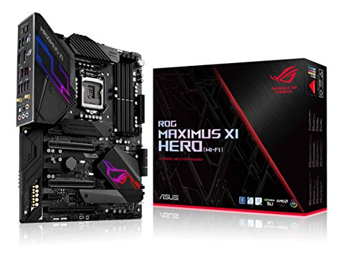 ASUS ROG Maximus XI Hero (Wi-Fi) Z390 Gaming Motherboard LGA1151 (Intel 8th 9th Gen) ATX DDR4 DP...