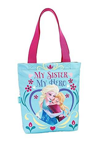 Disney Frozen - Die Eiskönigin Einkaufstasche Shopper Bag (S616), blau/pink,31 x 30 cm