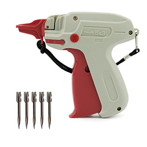 –Pistola grapadora––Pistola etiquetadora Textiles como Banok 503x (Fein) + 5Agujas de recambio de epo52–La pistola para el profesional.