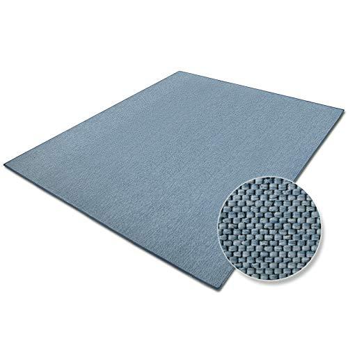 casa pura Tapis de Salon Bleu Effet sisal   Polypropylene + Coton   Chambre, Couloir   7 Couleurs et 7 Tailles - Sabang, 80x150cm
