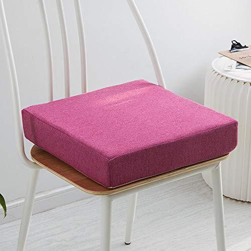 JKCTOPHOME Cojines de Asiento,Cojín Grueso de Oficina de cojín de jardín de Color sólido Simple para el hogar-D_40 * 40 * 5cm,Almohadillas para sillas