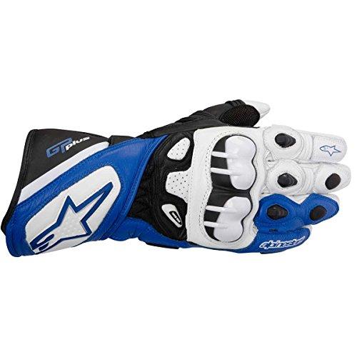 Alpinestars Guantes GP Plus, color blanco, azul y negro, talla 3XL/12