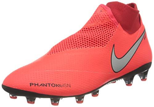 Nike Phantom Vsn DF AG-PRO, Scarpe da Calcio Uomo, Bright Crimson/Metallic Silver, 45.5 EU