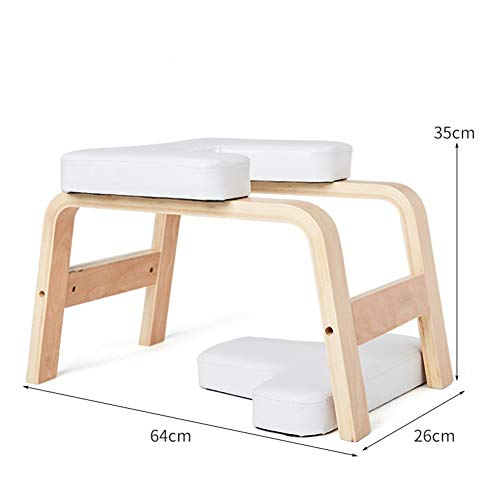 Find Bargain FANHUA Yoga Inverted Stool Household Small Inverted Chair Wooden Practice Handstand Aid...