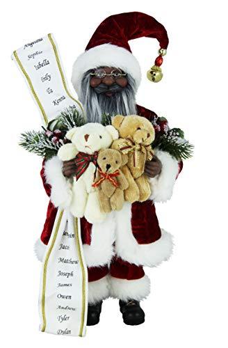 16' Inch Standing Teddy Bear Ethnic Santa Claus Figurine Figure Decoration 16801E