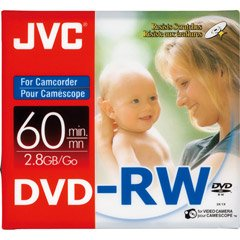 JVC VDW28N3 2.8GB Mini DVD-RW (3Pk)