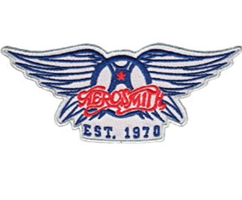 MAREL Patch Aerosmith Logo Parche Termoadhesivo Bordado cm 8 x 4,5 Replica