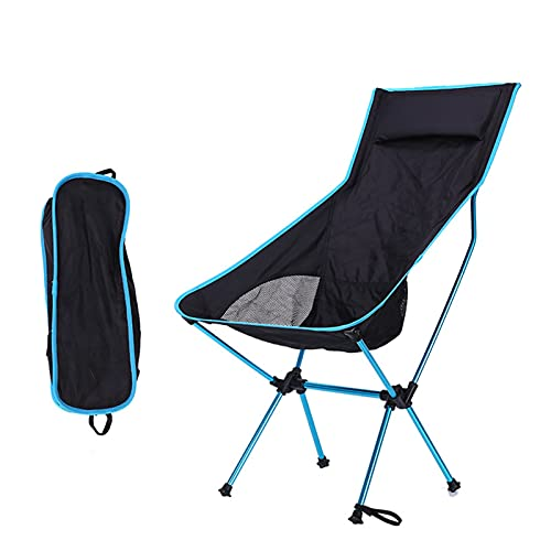 Sedie da campeggio pieghevole Mini Sedia pieghevole Pieghevole portatile portatile Pieghevole da esterno Pieghevole da campeggio Compact Sedie per Camp da esterno Picnic Escursioni ( Color : Blue )