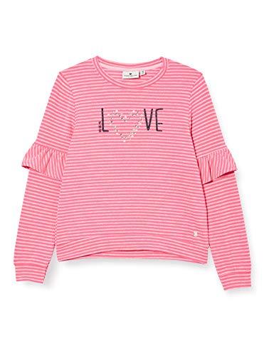 TOM TAILOR Baby-Mädchen Sweatshirt T-Shirt, Knockout pink pink, 116/122