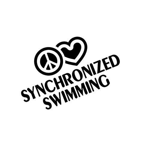 PressFans - Peace Love Synchronized Swimming Sport Car Laptop Sticker Decal