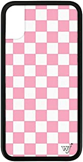 Wildflower Limited Edition iPhone Case for iPhone X and XS (Pink Checkered)