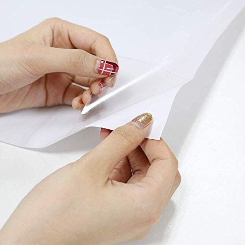 Decoroom Carta Adesiva per Mobili Trasparente 40cm × 300cm Cucina Pellicola Protettiva Autoadesiva Mobili Impermeabile Pellicola Adesivo Vinile Rotolo Facile da Installare e Pulire