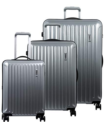 Great Price! Bric's Riccione 3-Piece Trolley Set (21/27/30) (Brushed Silver)