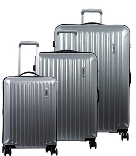 Bric's Riccione 3-Piece Trolley Set (21'/27'/30') (Brushed Silver)