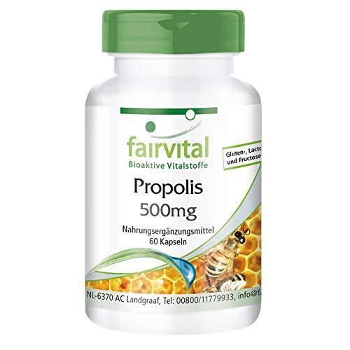 Propóleo 500mg - Extracto de Propolis - Dosis elevada - 3% de Galangina - 60 Cápsulas