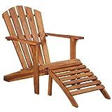 Tidyard Adirondack-Gartenstuhl Stuhl aus massivem Akazienholz,Gartensessel Esszimmerstühl Garten-Armlehnstühle Gartenstühle Garten-Essstühle,Montage-Zubehör im Lieferumfang enthalten