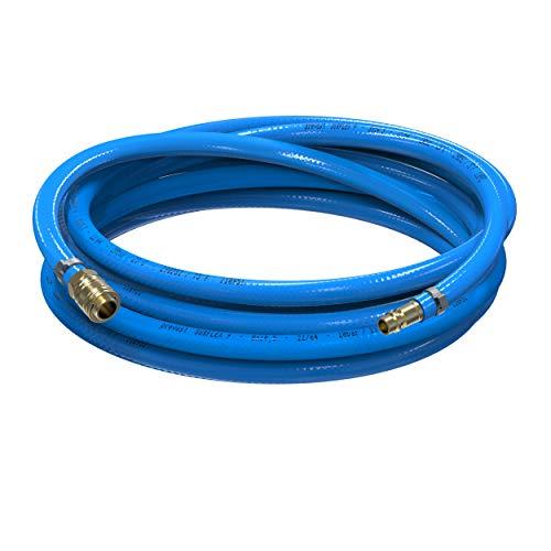 AUPROTEC Sicherheits Druckluftschlauch Set Prevost PVC-Schlauch Surflex Pro + Messing Schnellkupplung Auswahl: (3m Meter, Innen Ø 9mm)