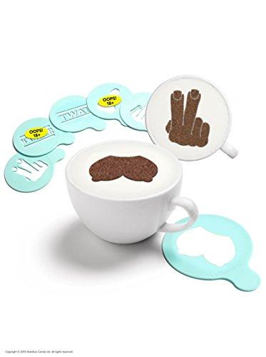Brainbox Candy Rude Coffee Stencils 6 Pack