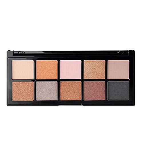 Cloud ROM 10 Colores Sombra de Ojos Mate Shimmer Impermeable Durable Paleta Regalos cumpleaños Cosmético Mate Sombra Ojos Paleta Maquillaje Brillo Conjunto Sombras Profesional Maquillaje