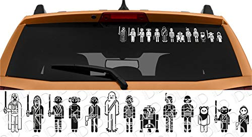 Auto Aufkleber Star Wars Familie Skywalker Darth Vader Leia Auto Laptop Vinyl Aufkleber Aufkleber