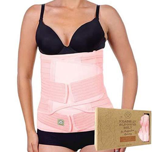 3-in-1-Packung Zur Unterstützung Der Genesung Nach Der Geburt - Bauchband Für Schwangerschaft, Mutterschaft - Gürtel Für Frauen Body Shaper - Shapewear Gürtel (One Size, Blush Pink)