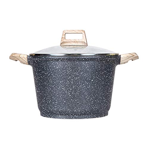 Soup pot Soup Pot Milk Saucepan Maifan Stone Without Fumes Non-Stick Coating with Lid Suitable for All Stove Including Induction soup pot quart (Size : 2212.5cm(3.5L))