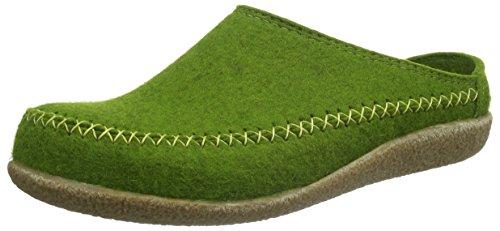 HAFLINGER Unisex-Erwachsene Blizzard Credo Pantoffeln, Grün (Grasgrün 36), 45 EU