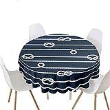 Highdi Impermeable Mantel de Redondo, Antimanchas Lavable Manteles Moderno Decoración para Salón, Cocina, Comedor, Mesa, Interior y Exterior (SOGA,Diámetro 100cm)