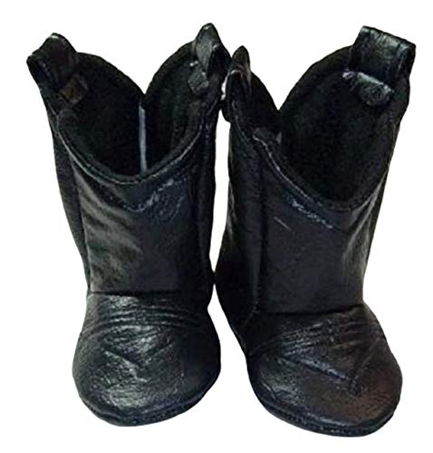 Black Faux Leather Baby Cowboy Boots, Newborn Boots, Infant Boots, Toddler Boots