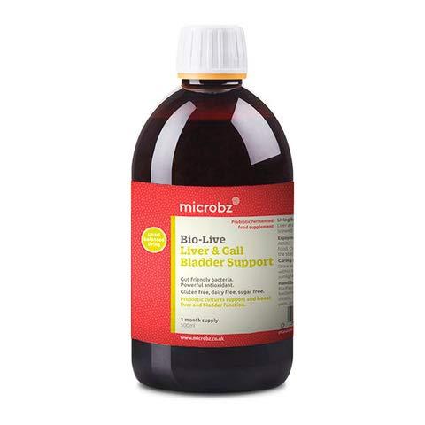 Bebida fermentada para el hígado y la vesícula biliar BIO-LIVE LIVER & GALL. Microorganismos beneficiosos, hierbas medicinales, zumos y minerales