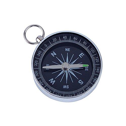 10er Set Aluminium Rand Pocket Kompass Taschenkompass Wasserdicht für Camping Wandern Outdoor Survival